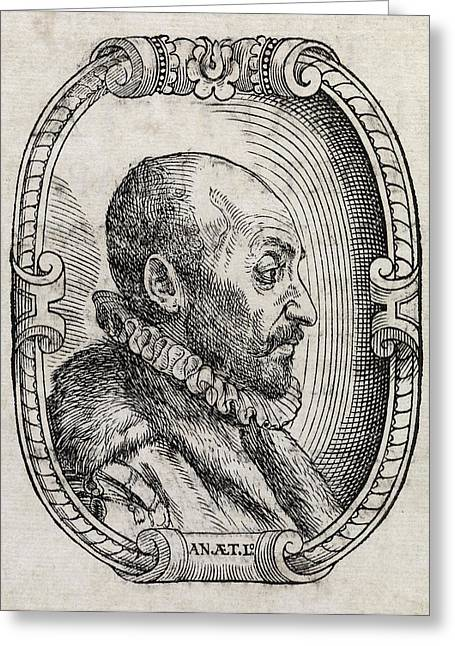 European Artwork Greeting Cards - Giambattista Della Porta, Italian Scholar Greeting Card by Middle Temple Library