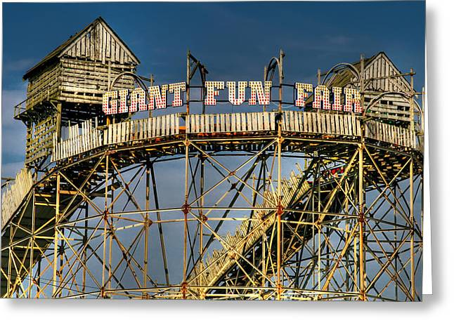 Amusements Digital Art Greeting Cards - Giant Fun Fair Greeting Card by Adrian Evans