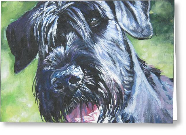 Giant Schnauzer Greeting Cards - Giant Schnauzer Greeting Card by Lee Ann Shepard