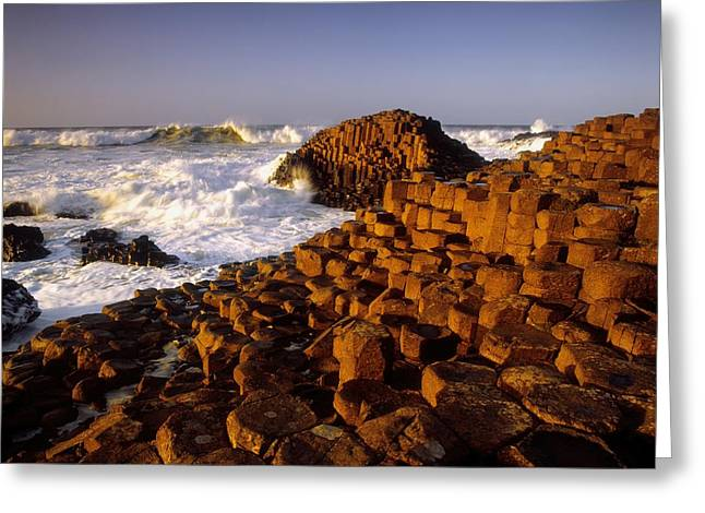 Stone Steps Greeting Cards - Giants Causeway, County Antrim, Ireland Greeting Card by The Irish Image Collection
