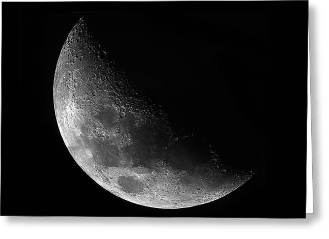 Gibbeous Moon Greeting Card by Charles Warren