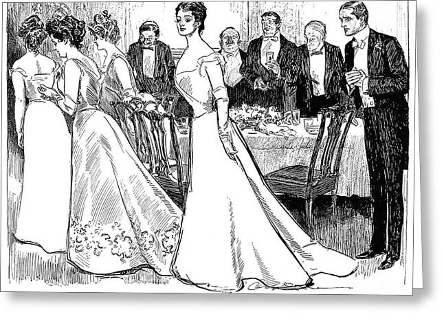 Tuxedo Greeting Cards - Gibson: After-dinner, 1899 Greeting Card by Granger