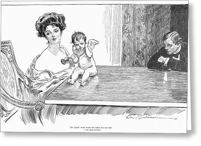 1901 Greeting Cards - Gibson: Gibson Girl, 1901 Greeting Card by Granger