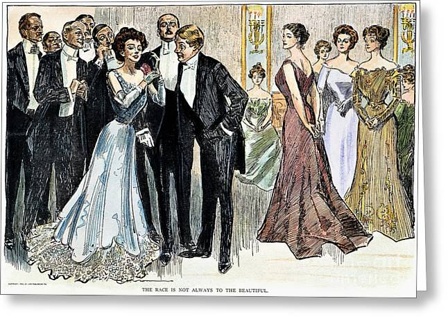 Tuxedo Greeting Cards - Gibson Girl, 1900 Greeting Card by Granger