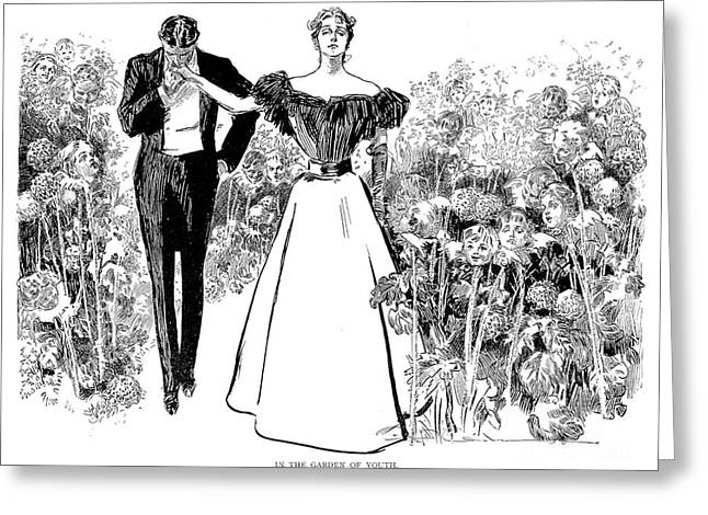 Tuxedo Greeting Cards - Gibson: In Garden Of Youth Greeting Card by Granger