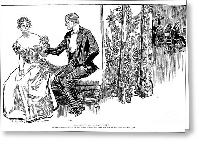 GIBSON: PALMISTRY, 1897 Greeting Card by Granger