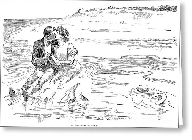 1901 Greeting Cards - Gibson: Turning Tide, 1901 Greeting Card by Granger