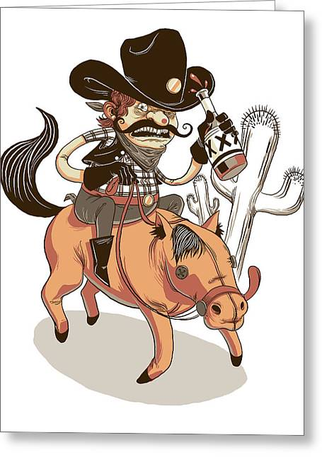 Giddy Up Greeting Card by Michael Myers