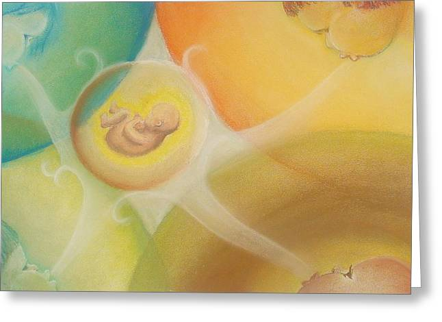 Spirituality Pastels Greeting Cards - Gifts of the Four Elements Greeting Card by Saskia Symens