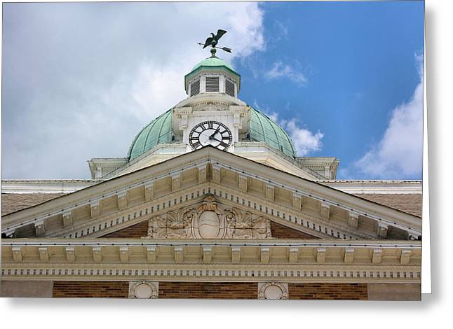 Weathervane Greeting Cards - Giles County Courthouse Details Greeting Card by Kristin Elmquist