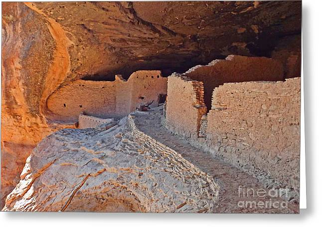 Dwelling Digital Art Greeting Cards - Gilla Cliff Dwellings Greeting Card by Terril Heilman