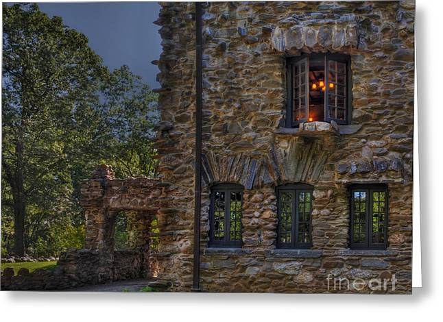 Gillete Castle Greeting Cards - Gillette Castle exterior HDR Greeting Card by Susan Candelario