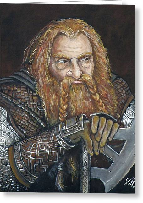 Lord Of The Rings Greeting Cards - Gimli Greeting Card by Tom Carlton