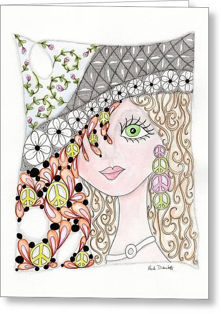 Paula Dickerhoff Greeting Cards - Ginger Greeting Card by Paula Dickerhoff