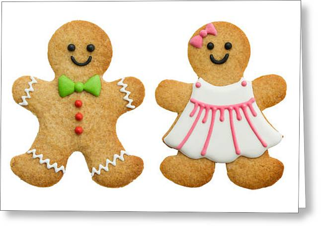 Value Greeting Cards - Gingerbread family Greeting Card by Ruth Black