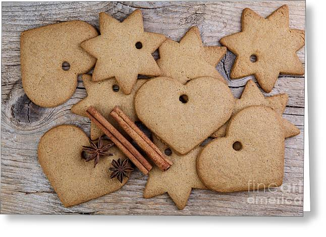 Gingerbread Greeting Card by Nailia Schwarz