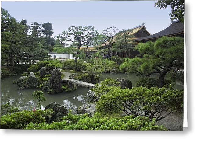 Shogun Photographs Greeting Cards - Ginkaku-ji Zen Temple No. 1 - Kyoto Japan Greeting Card by Daniel Hagerman