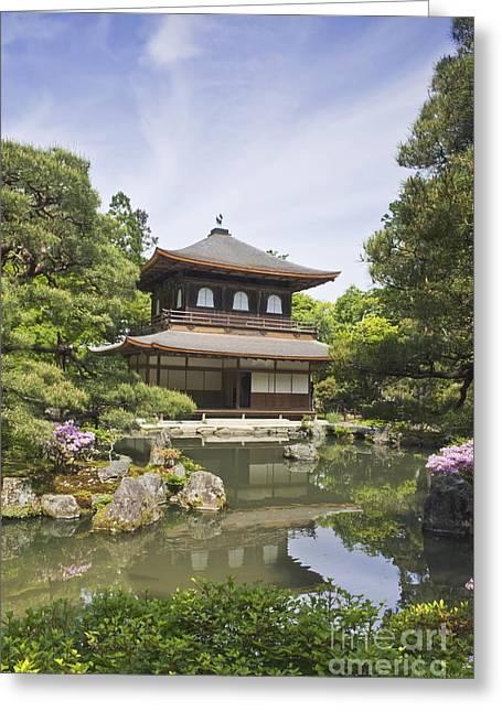 Kyoto Greeting Cards - Ginkakuji Temple Greeting Card by Rob Tilley