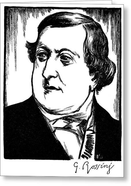 Autograph Greeting Cards - Gioacchino Rossini Greeting Card by Granger