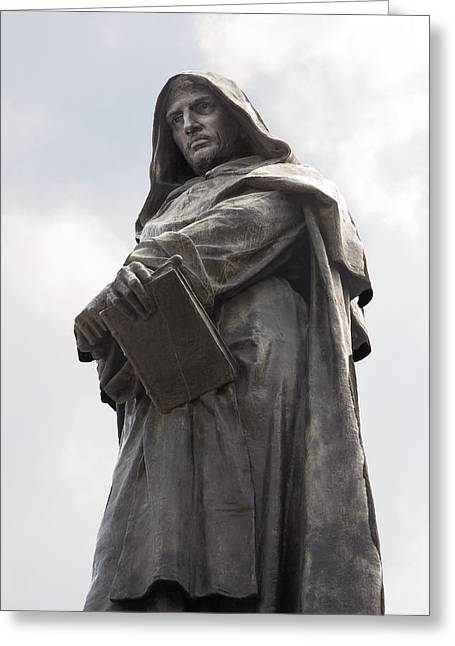 Statue Portrait Photographs Greeting Cards - Giordano Bruno, Italian Philosopher Greeting Card by Sheila Terry