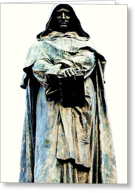 Giordano Bruno Monument Greeting Card by Roberto Prusso