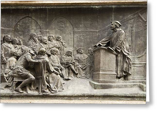 Persuade Greeting Cards - Giordano Bruno Teaching Greeting Card by Sheila Terry