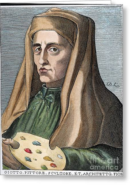 Bondone Greeting Cards - Giotto (1266?-1337) Greeting Card by Granger