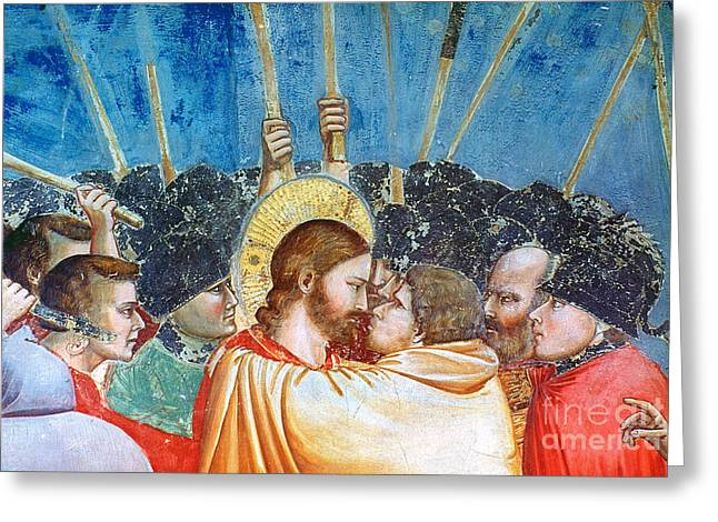 Bondone Greeting Cards - Giotto: Betrayal Of Christ Greeting Card by Granger