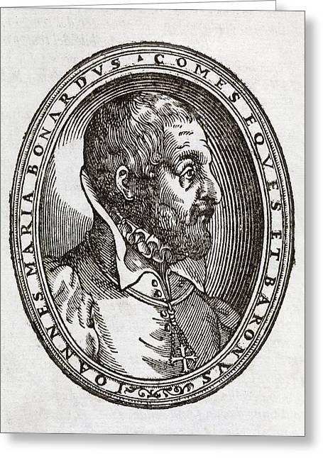 Giovanni Bonardo, Italian Author Greeting Card by Middle Temple Library