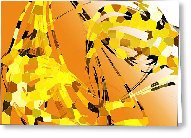 Giraffe Abstracts Greeting Cards - Giraffe  Greeting Card by Betsy A  Cutler