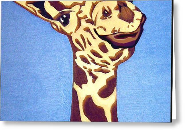 Giraffe Greeting Card by Darren Stein