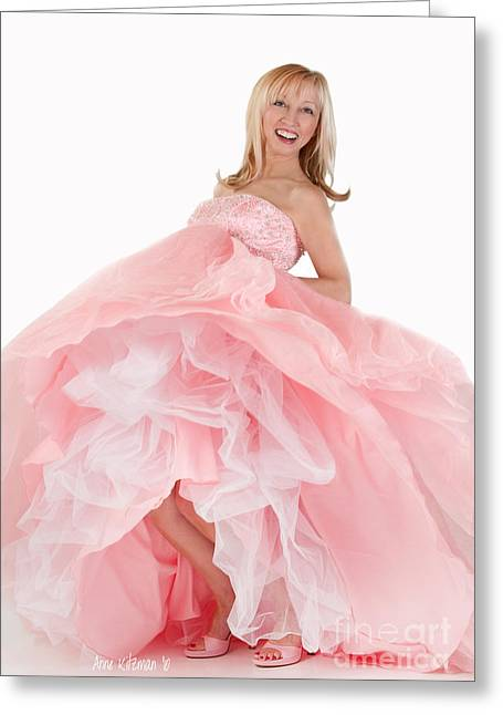 Ball Gown Greeting Cards - Girl Can Dance Greeting Card by Anne Kitzman