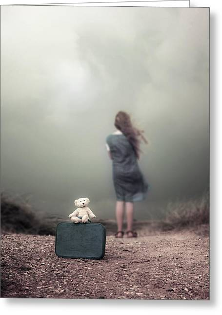 Anonymous Greeting Cards - Girl In The Dunes Greeting Card by Joana Kruse