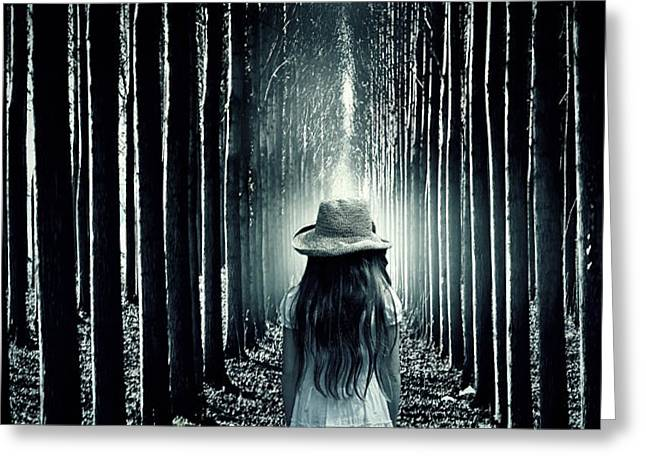 girl in the forest Greeting Card by Joana Kruse