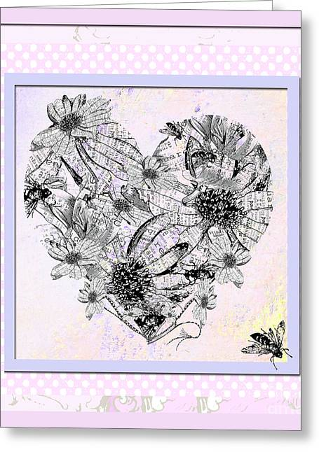 Teen Licensing Greeting Cards - Girly Girl Happy Heart Greeting Card by ArtyZen Studios