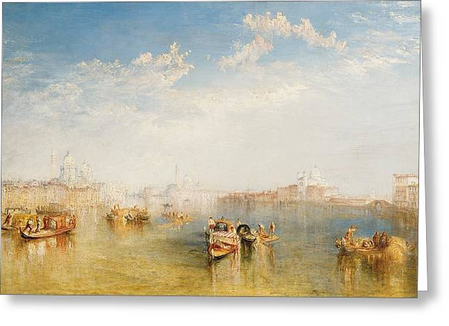 Sailing Boat Greeting Cards - Giudecca La Donna della Salute and San Giorgio  Greeting Card by Joseph Mallord William Turner