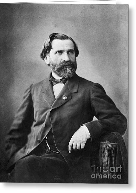 1900s Portraits Greeting Cards - Giuseppe Verdi Greeting Card by Photo Researchers