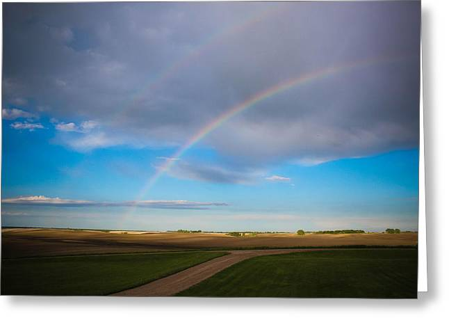 Double Rainbow Greeting Cards - Give Me A Double Greeting Card by Christy Patino