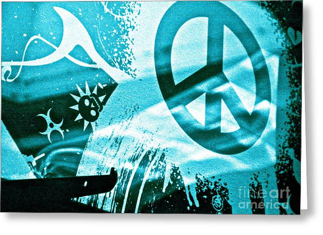 Peace Symbol Greeting Cards - Give Peace a Shirt Greeting Card by Chuck Taylor