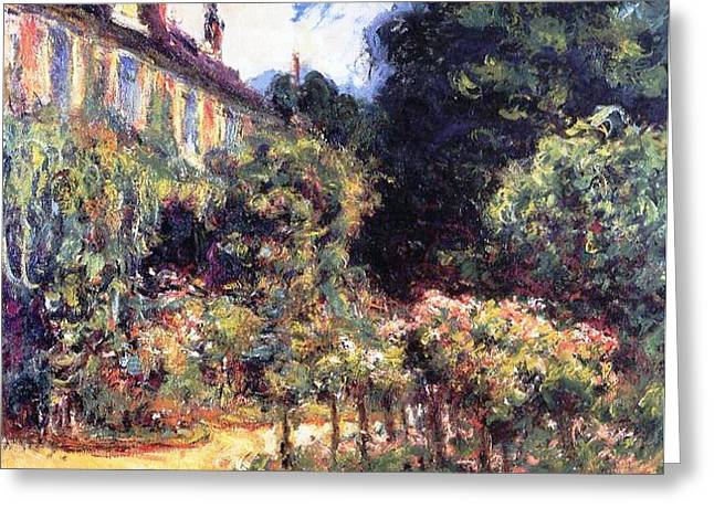 The Houses Greeting Cards - Giverny Greeting Card by Claude Monet