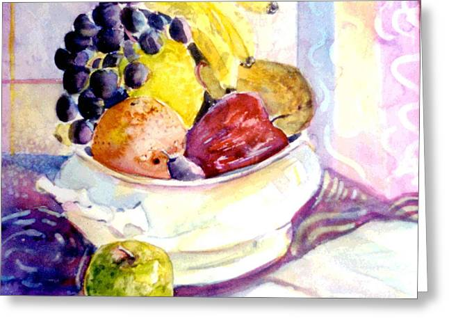Snack Drawings Greeting Cards - Giving Thanks Greeting Card by Mindy Newman