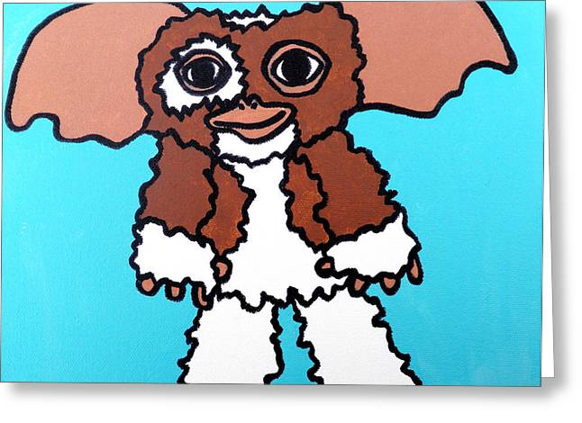 Character Portraits Greeting Cards - Gizmo Greeting Card by Jera Sky