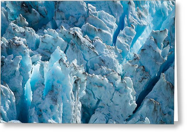 Crevasses Greeting Cards - Glacial Fragments Greeting Card by Adam Pender