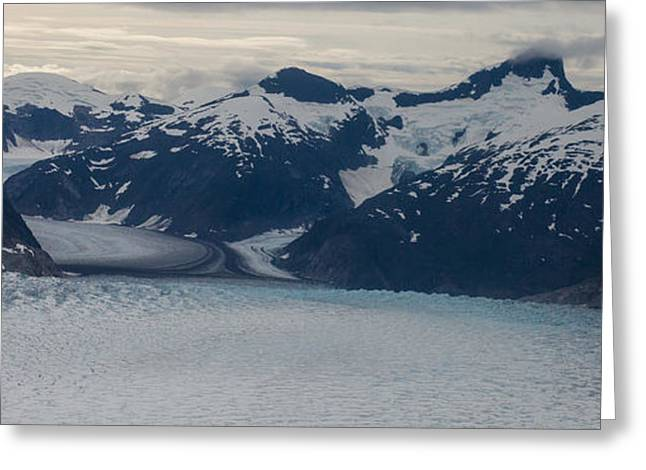 Glacial Panorama Greeting Card by Mike Reid