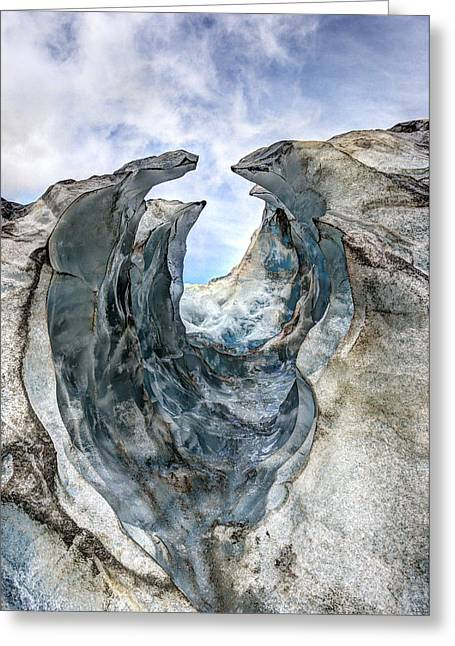 Aotearoa Greeting Cards - Glacier Impression Greeting Card by Andreas Hartmann