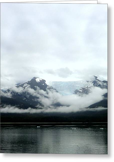 Mystical Landscape Greeting Cards - Glacier Mountain Greeting Card by Mindy Newman