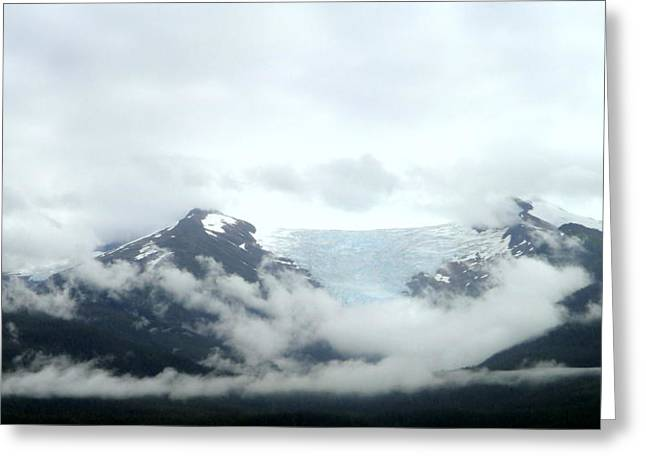 Glacier Mountain Greeting Card by Mindy Newman