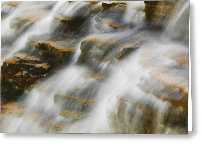 Clean Water Greeting Cards - Glacier NP Waterfall Greeting Card by Rich Franco