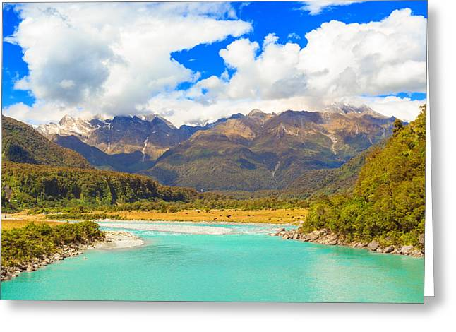 Tai Greeting Cards - Glacier river Greeting Card by MotHaiBaPhoto Prints