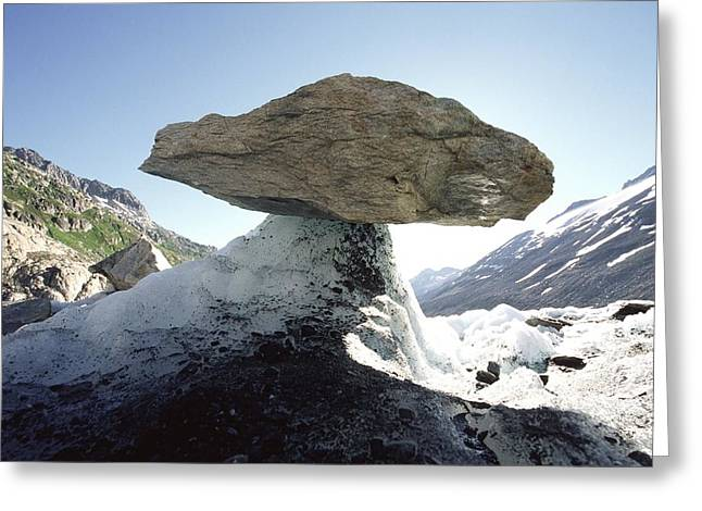 Glacier Table, Switzerland Greeting Card by Dr Juerg Alean